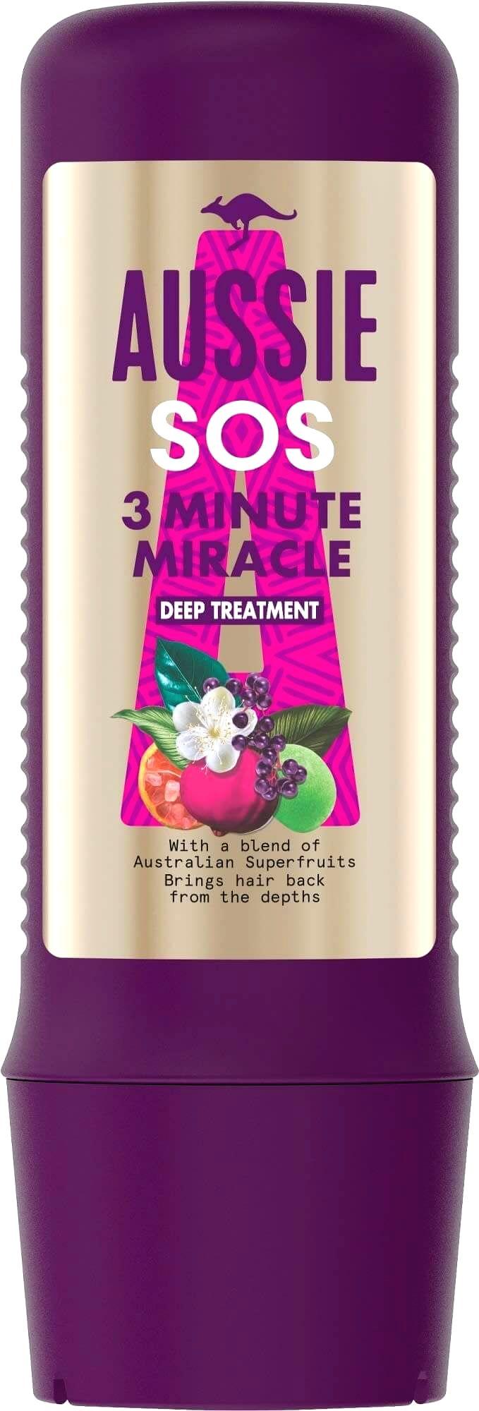 Aussie Regeneračná maska pre suché a poškodené vlasy SOS 3 Minute Miracle (Deep Treatment)225 ml