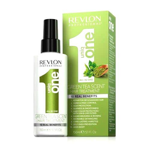 Revlon Professional Bezoplachová starostlivosť v spreji so zeleným čajom Uniq One Green Tea (All In One Hair Treatment ) 150 ml