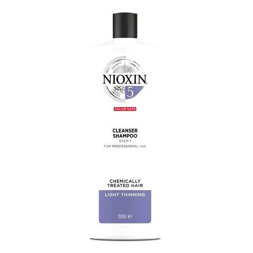 Nioxin Čistiace šampón pre normálne až silné prírodné aj farbené mierne rednúce vlasy System 5 (Shampoo Cleanser System 5 )1000 ml