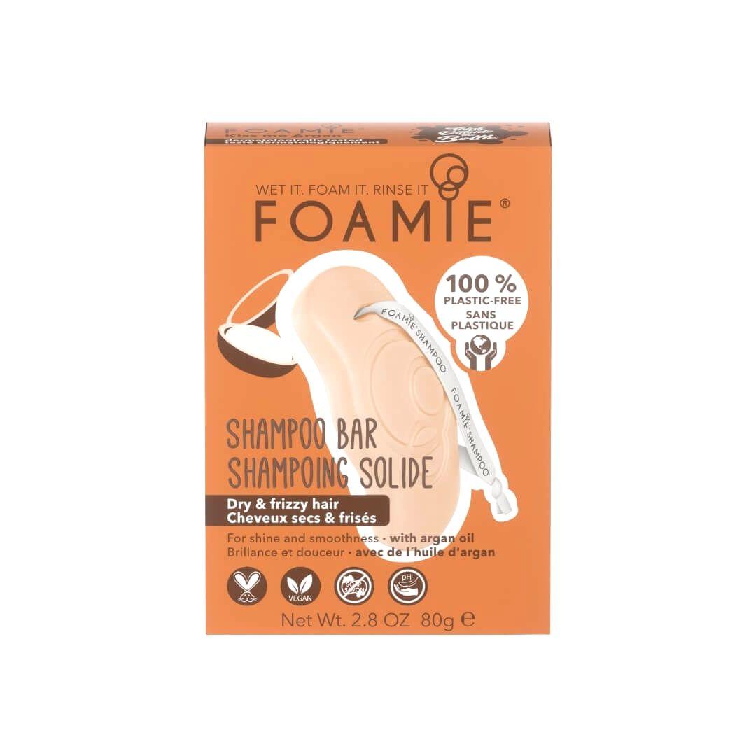 Foamie Tuhý šampón pre suché a kučeravé vlasy Kiss Me Argan (Shampoo Bar) 80 g
