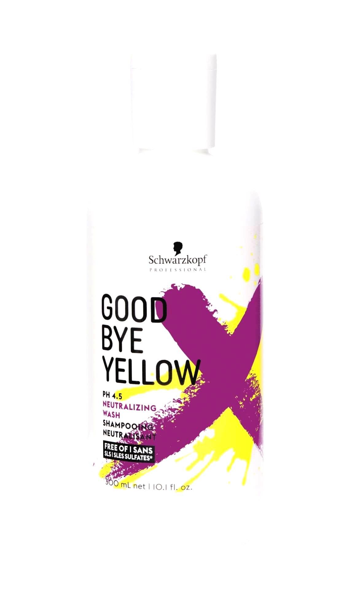 Schwarzkopf Professional Šampón pre neutralizáciu žltých tónov farbených a melírovaných vlasov Goodbye Yellow300 ml