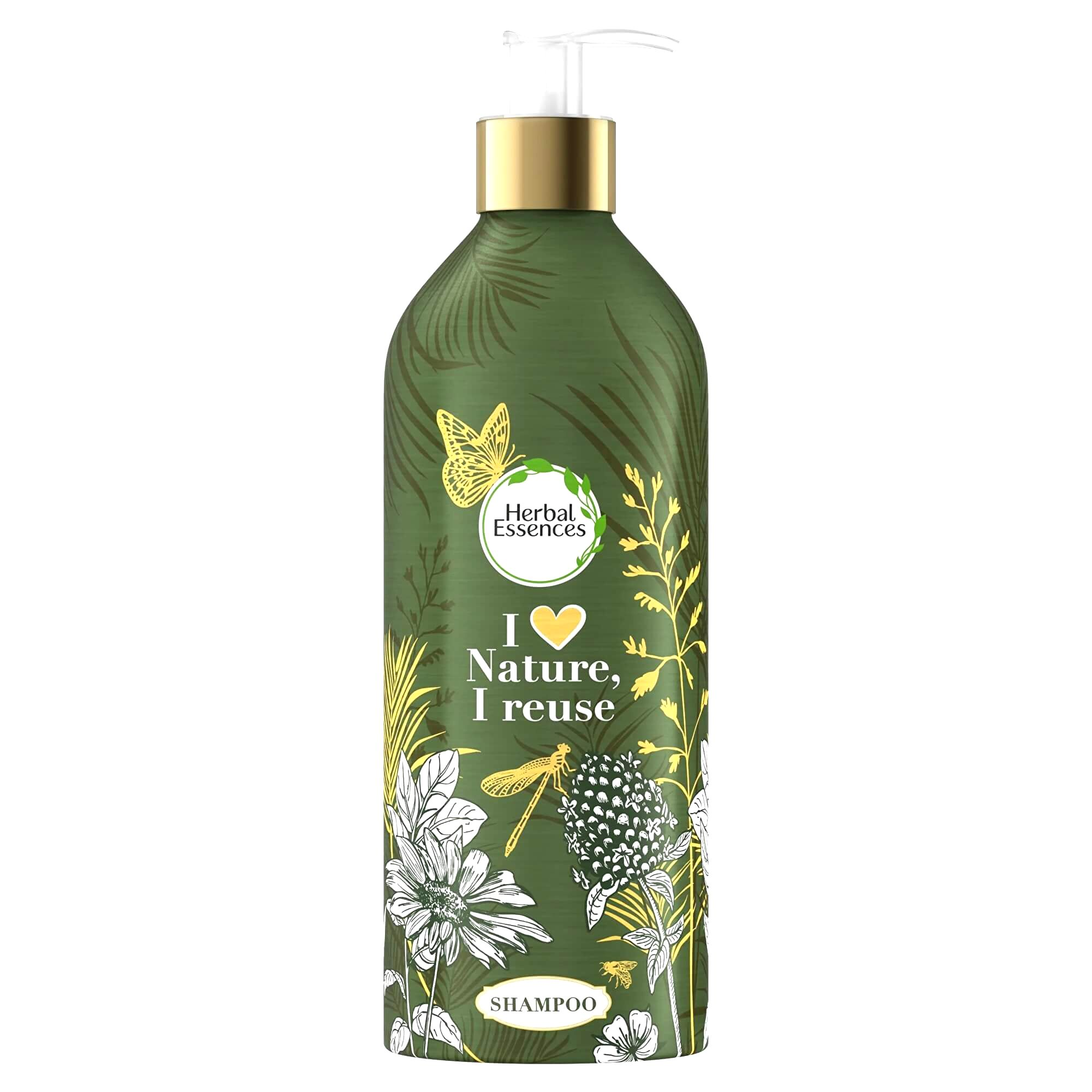 Herbal Essence Šampón pre suché a poškodené vlasy v naplniteľné fľaši Argan Oil (Shampoo)480 ml - náhradní náplň
