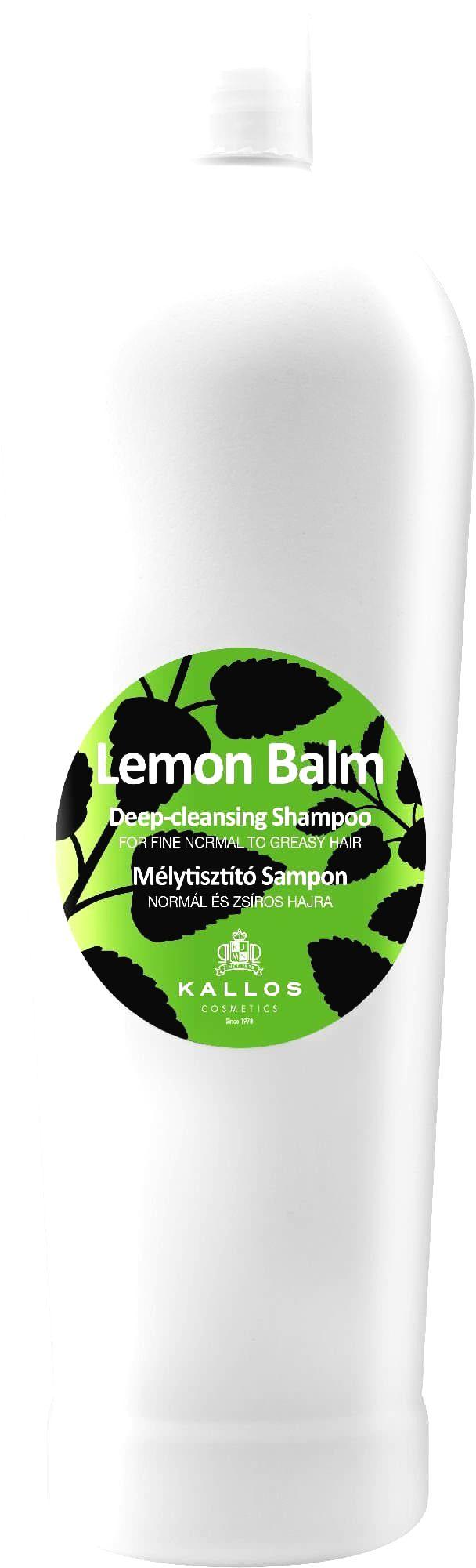 Kallos Hĺbkovo čistiaci šampón s výťažkami citrónovej trávy (Lemon Balm Deep Cleaning Shampoo)1000 ml
