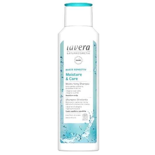 Lavera Hydratačný šampón s BIO mandľovým mliekom a aloe vera Basis Sensitiv (Moisture & Care Shampoo) 250 ml