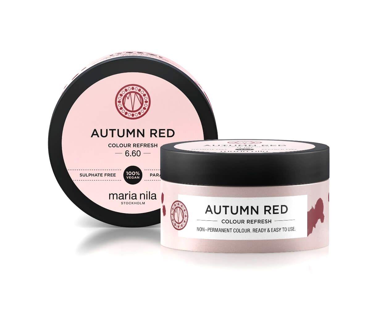 Maria Nila Jemná vyživujúce maska bez permanentných farebných pigmentov Autumn Red ( Colour Refresh Mask)300 ml
