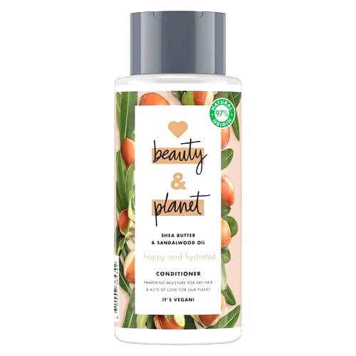 Love Beauty and Planet Hydratačný kondicionér pre suché vlasy s bambuckým maslom a santalovým drevom (Happy & Hydrate d Conditioner) 400 ml