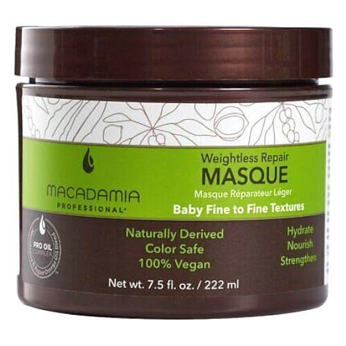 Macadamia Obnovujúci maska pre všetky typy vlasov Weightless Repair (Masque)222 ml