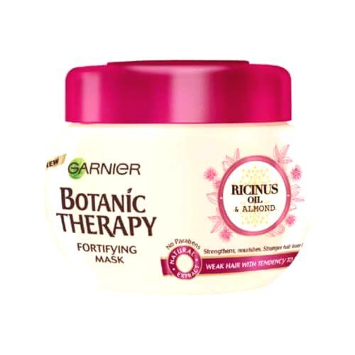 Garnier Posilňujúci maska s ricínovým a mandľovým olejom pre slabé a lámajúce sa vlasy Botanic Therapy (Fortifying Mask) 300 ml