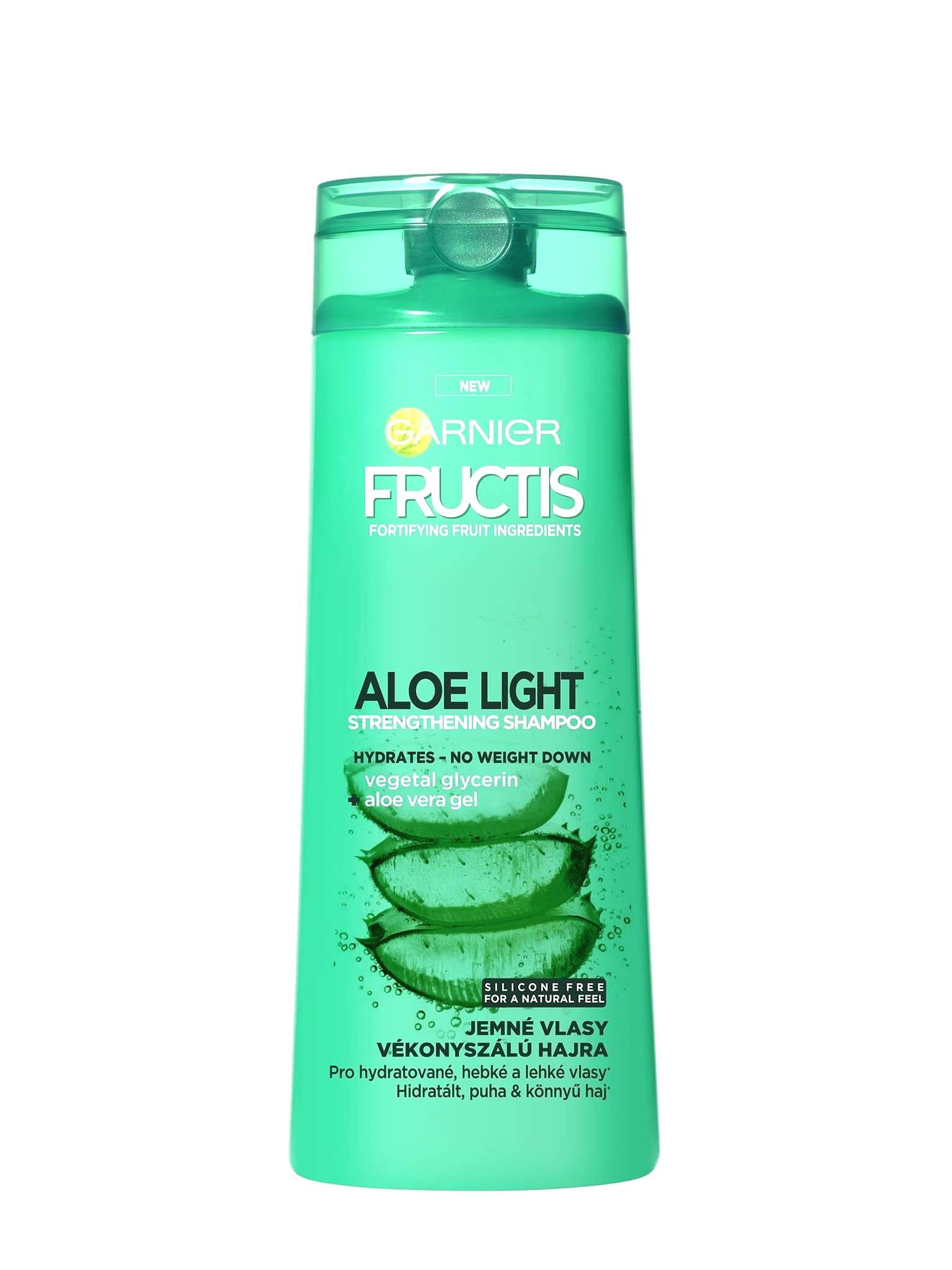 Garnier Posilňujúci šampón s aloe vera na jemné vlasy Fructis (Aloe Light Strength ening Shampoo)400 ml