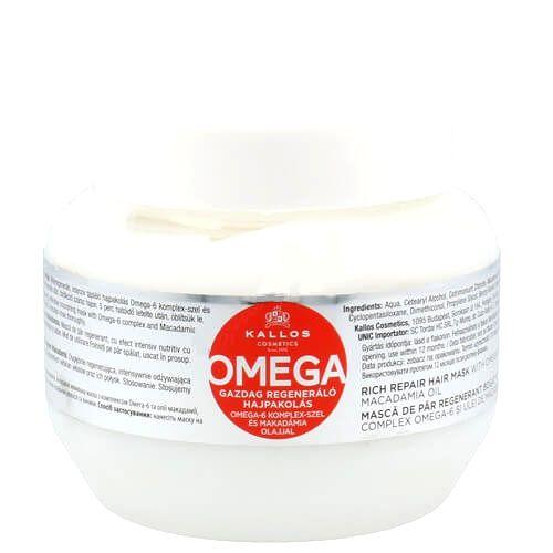 Kallos Regeneračná maska na vlasy s omega-6 komplexom a makadamových olejom (Omega Hair Mask)1000 ml