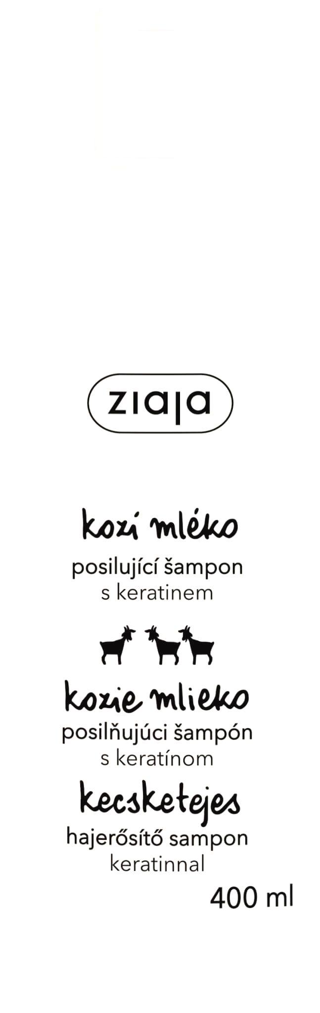 Ziaja Šampón na suché a matné vlasy s keratínom Goat`s Milk 400 ml