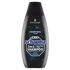 Schauma Šampón pre mužov 3v1 Charocal + Clay ( Hair Body Face Shampoo)400 ml