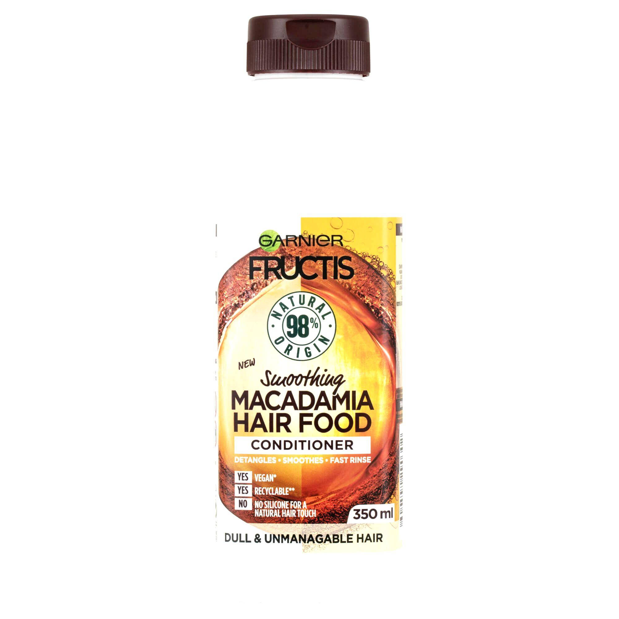 Garnier Uhladzujúci kondicionér pre nepoddajné vlasy Fructis Hair Food (Macadamia Smoothing Conditioner) 350 ml