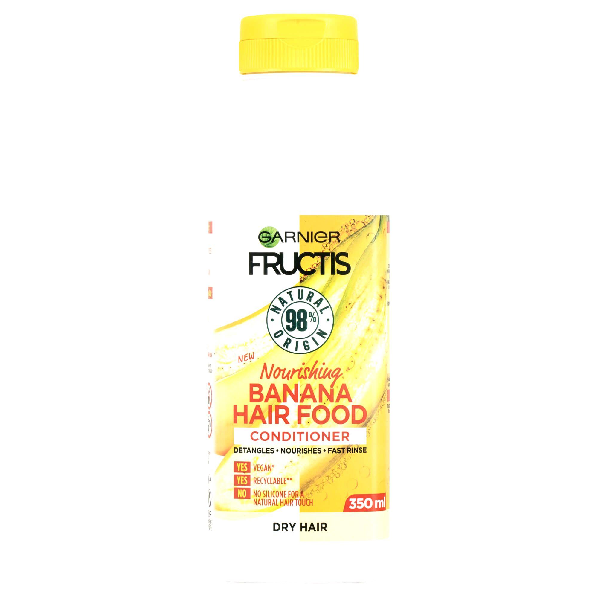 Garnier Vyživujúci kondicionér pre suché vlasy Fructis Hair Food (Banana Nourishing Conditioner) 350 ml