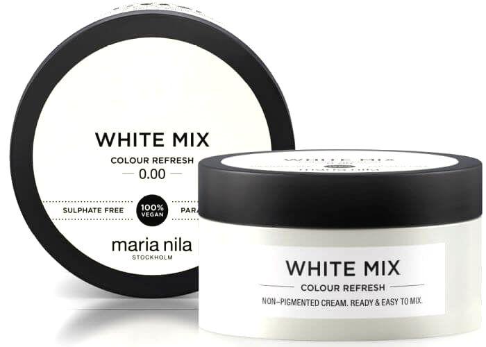 Maria Nila Vyživujúce maska bez farebných pigmentov k dotvoreniu pastelových odtieňov White ( Colour Refresh Mask)300 ml