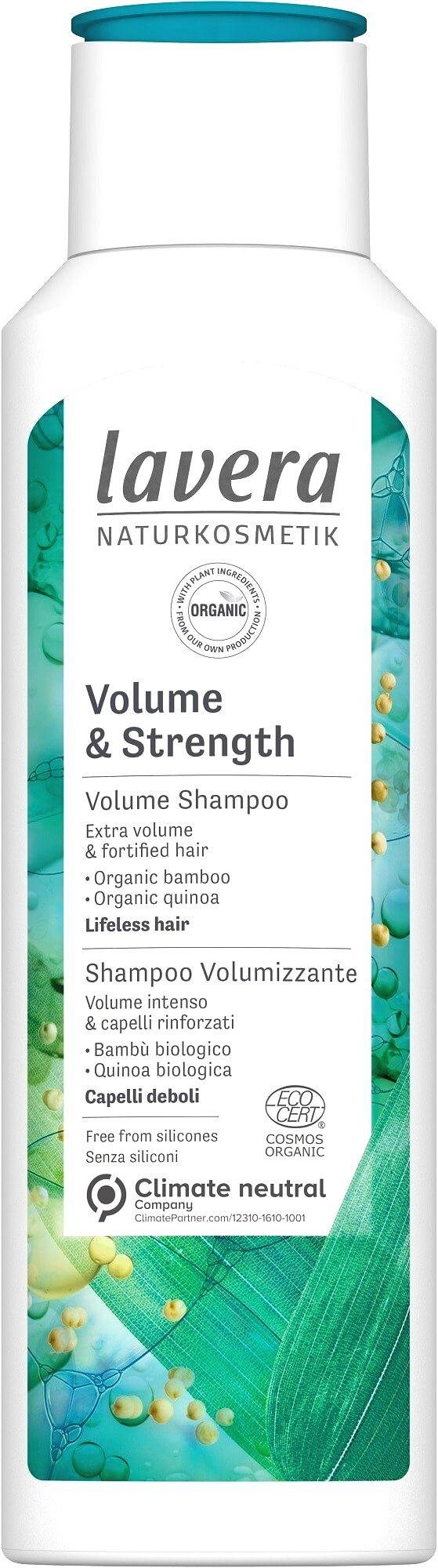 Lavera Objemový šampón pre jemné vlasy (Volume & Strenght Shampoo) 250 ml