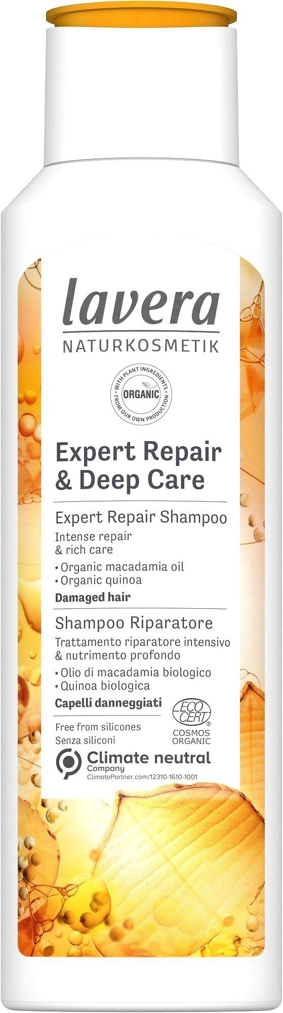 Lavera Šampón a kondicionér 2v1 pre veľmi poškodené a suché vlasy (Deep Care & Repair ) 250 ml